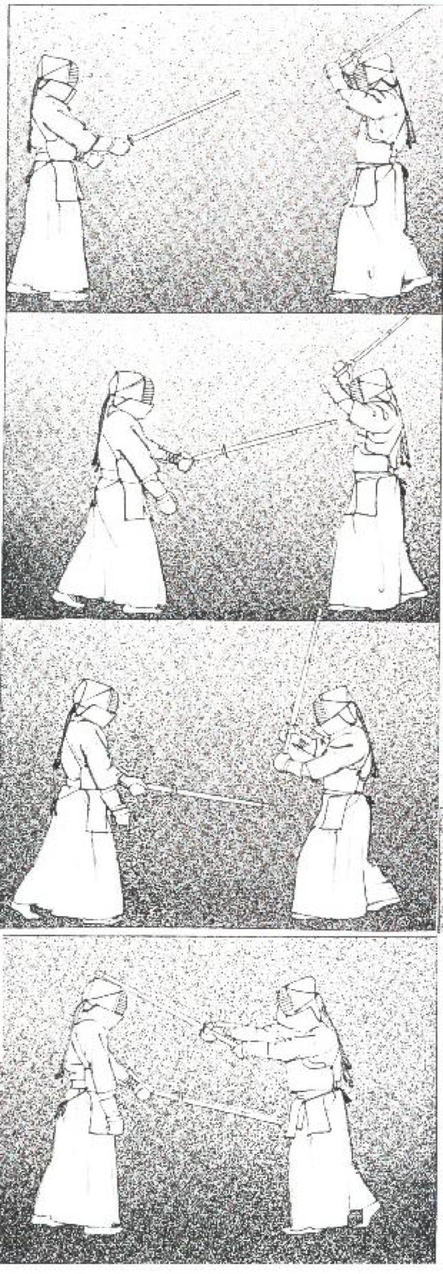 Рис.12. Когда синай противника направляется к цки, сбейте его своей цука, затем немедленно бейте мэн.
