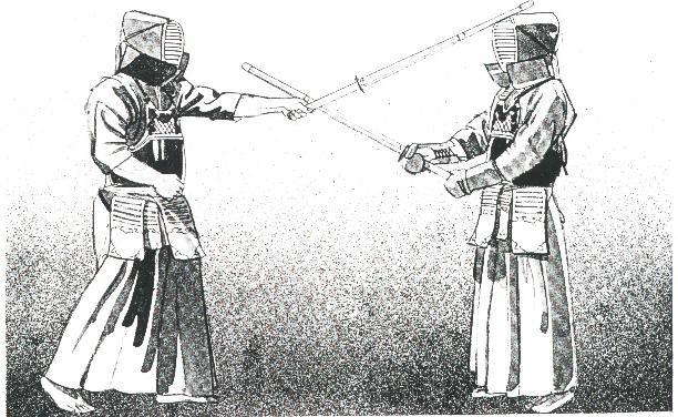 Рис.7. Мэн-ути: Плотно держите синай, используя большой палец левой руки, быстро переместите левый локоть к центру тела и «щелкните» кистью по направлению к мизинцу.